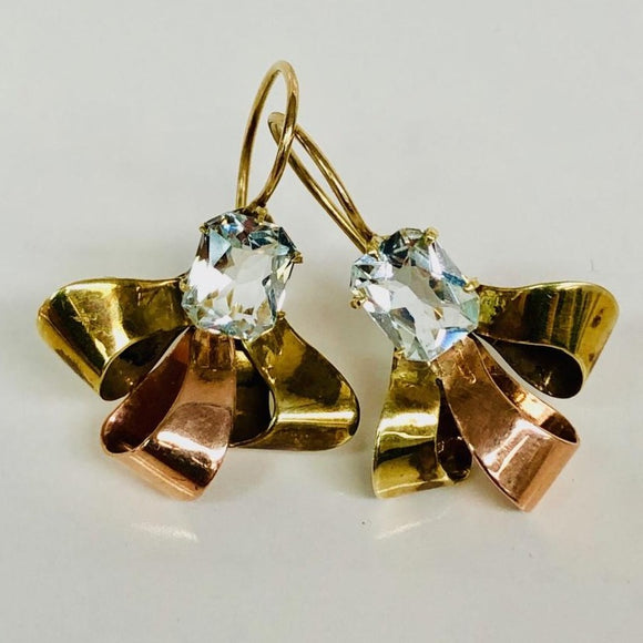 Retro Style Bow Earrings