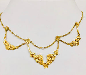 French Gold and Pearl Necklace