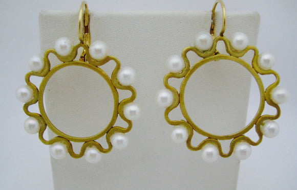 J.J. Marco Pearl Earrings