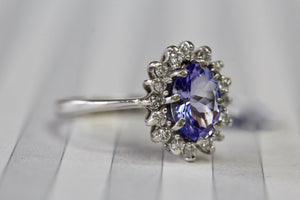 Sparkling ~ Tanzanite & Diamond Ring