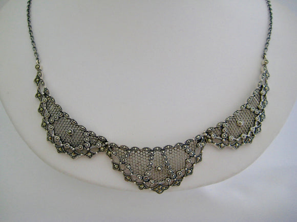 Lacey Marcasite Necklace