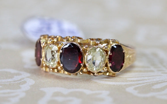 Antique ~ Garnet & Spinel Ring