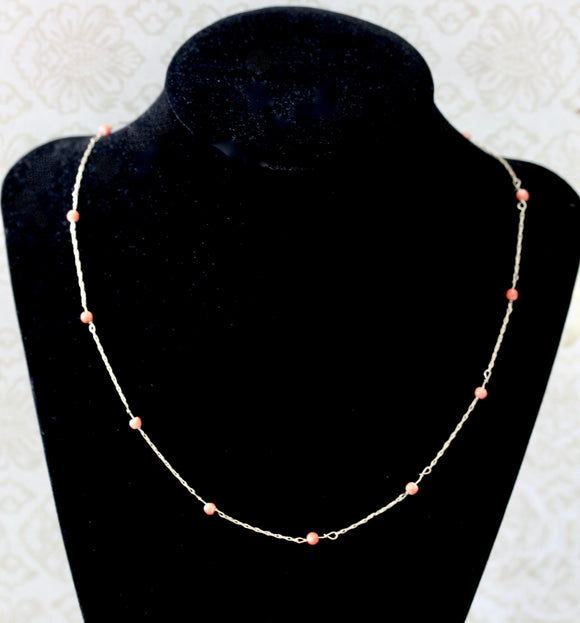 Flirty ~ Coral Necklace