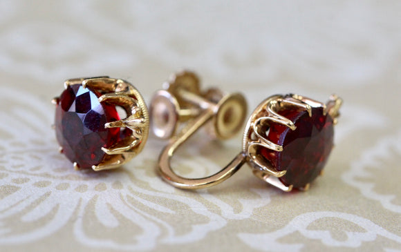 Colorful ~ Garnet Earrings
