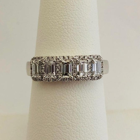 Emerald Cut Diamond Wedding Band