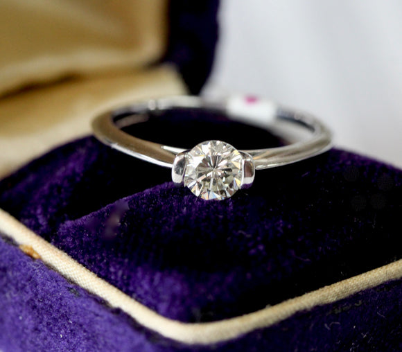 Dainty ~ Diamond Solitaire Engagement Ring
