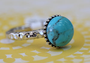 Turquoise & Sterling Ring ~ Colorful