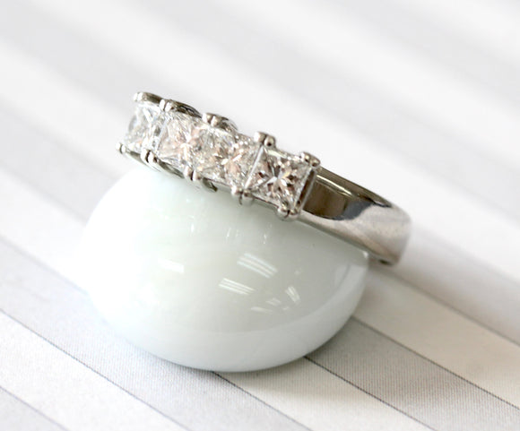 Pretty ~ Platinum Diamond Wedding Band
