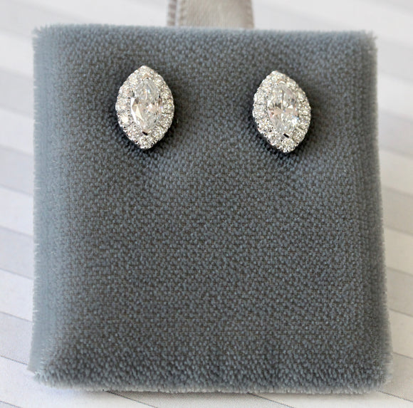 Dazzling ~ Marquise Diamond Stud Earrings