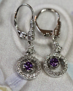 Alluring ~ Amethyst & Diamond Earrings
