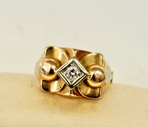 Tri Color Retro Ring