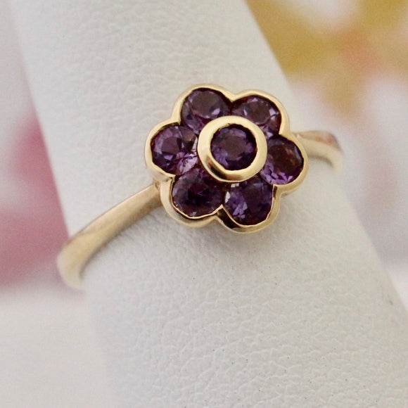 Dainty Contemporary Amethyst Ring