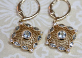 Aquamarine and Diamond Drop Earrings ~ Sparkly