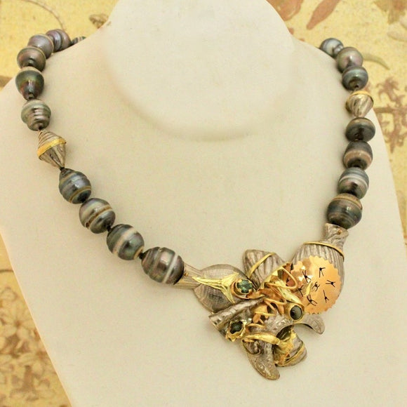 Artfully Crafted Barnaby Tahitian South Sea Baroque Pearl Neckpiece