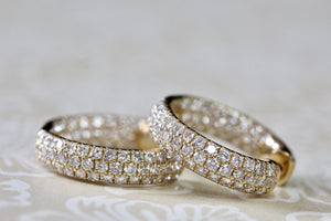 BLINGTASTIC ~ Diamond In & Out Hoop Earrings