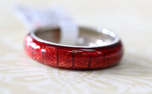 "Colorful & Funky ~ ""Hidalgo"" Red Enamel Band"