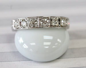 Sparkling ~ Vintage Diamond Eternity Band