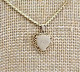 Vintage & Romantic ~Heart Shaped Locket Pendant with Diamond Center