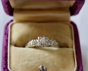 Dainty & Sweet ~ Diamond Engagement Ring