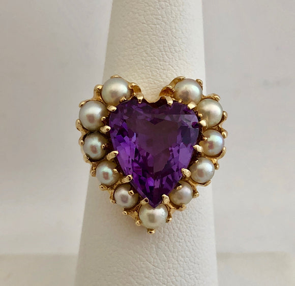 Purple Stone and Pearl