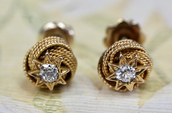 Stylish ~ Diamond Star Stud earrings