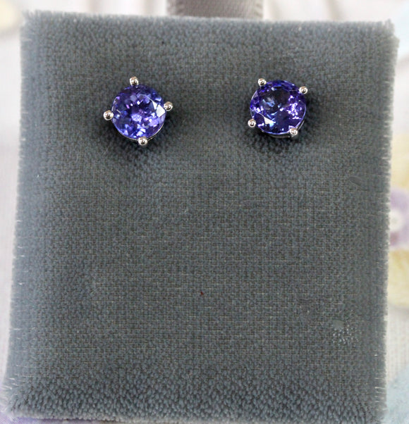 Pretty ~ Tanzanite Stud Earrings