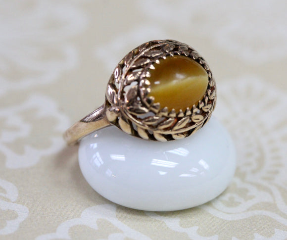 Vintage ~ Tiger Eye Ring