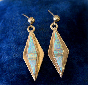 Designer ~ Opal Drop earrings, Artist Signed