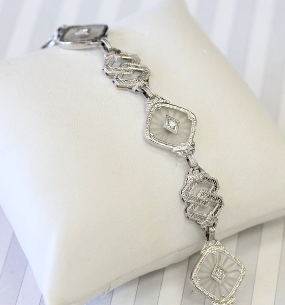Vintage Crystal & Diamond Bracelet ~ Gorgeous