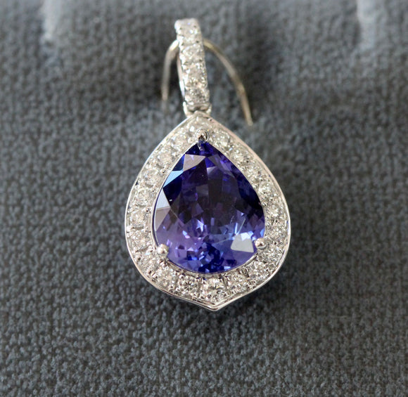 Sparkling ~ Tanzanite & Diamond Pendant