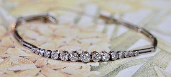 Antique ~ Platinum & Gold Diamond Bracelet