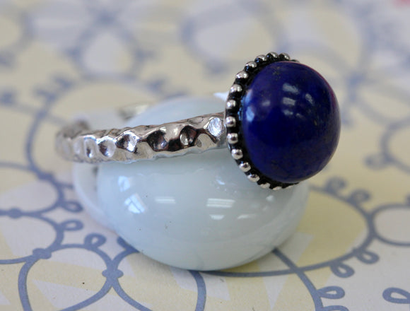 Colorful & Funky ~ Blue Lapis Ring