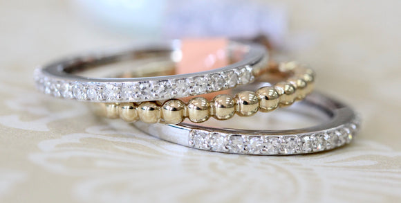 Trendy ~ Diamond Band Set, 3 bands