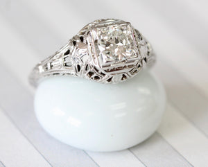 VINTAGE ~ Filigree Diamond Ring