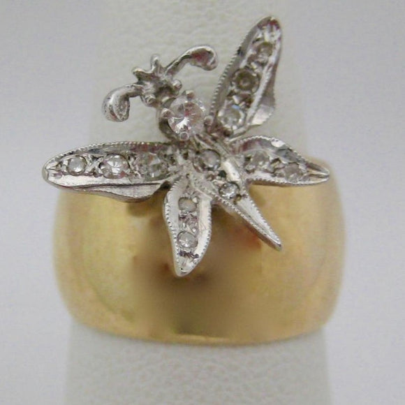 Band and Butterfly Ring