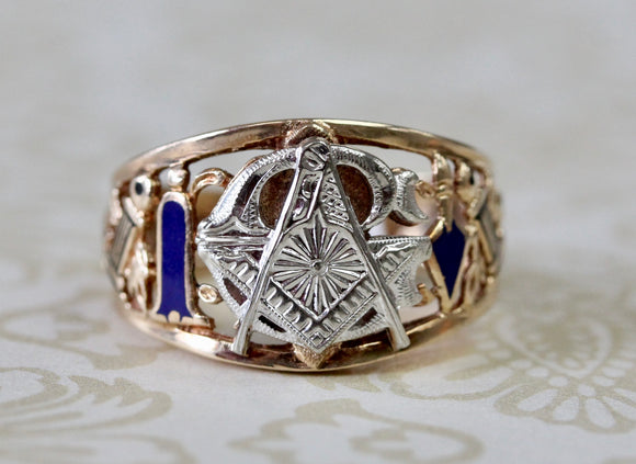 Handsome ~ Men's  Masonic Ring