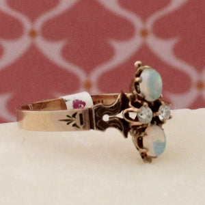 Victorian Opal & Diamond Ring