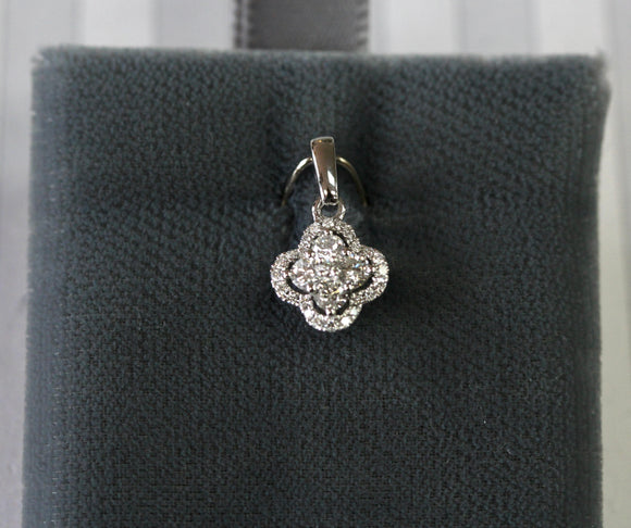 Adorable ~ Floral Shaped Diamond Pendant