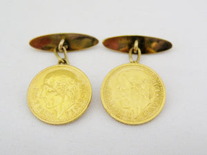 Mexican Coin Cuff Links
