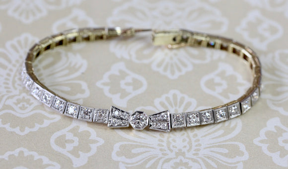 Diamond Platinum & Gold Bracelet ~ WOW