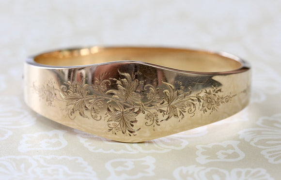 Decorative ANTIQUE Etched Bracelet