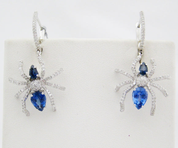 Sapphire and Diamond Spider Earrings