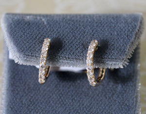 Diamond Hoop Earrings ~ Twinkling
