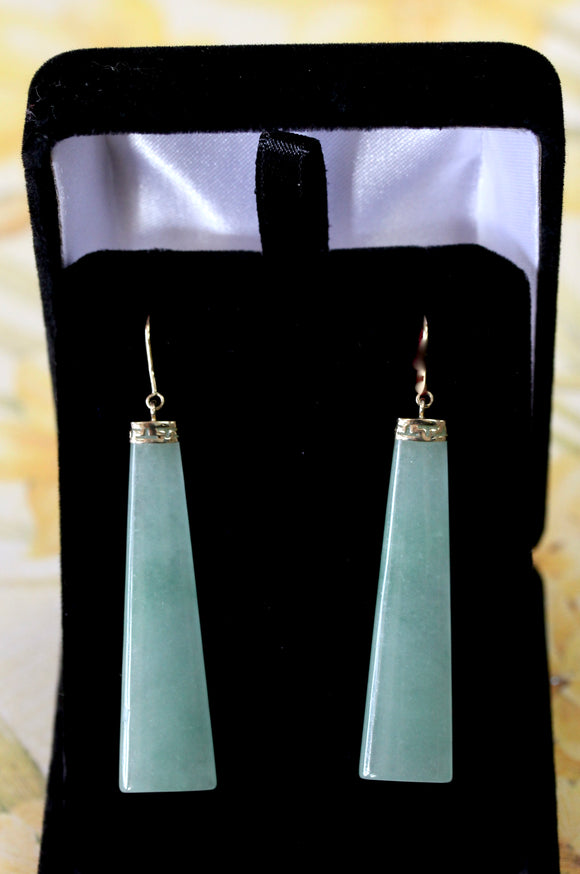 Stylish ~ Jade Drop Earrings