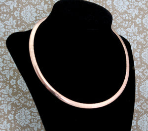 Classic ~ Sterling & Rose Gold Plated Necklace