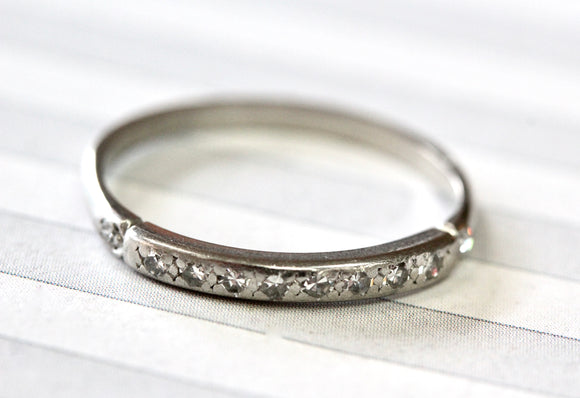Sleek ~ Diamond Platinum Band