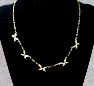 Contemporary ~ Necklace diamond accents ~ Gorgeous