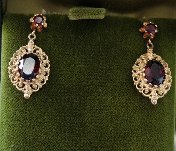 Garnet 14K Earrings