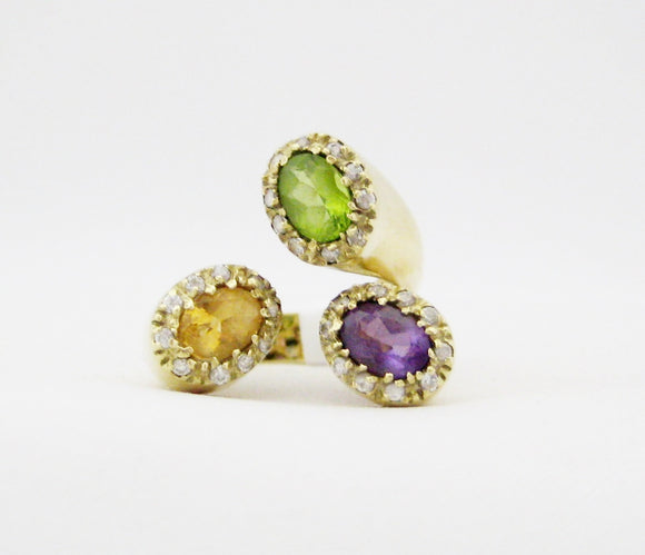 Amethyst, Citrine and Peridot Ring