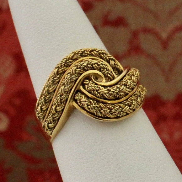 Woven Knot Ring, Estate Jewelry